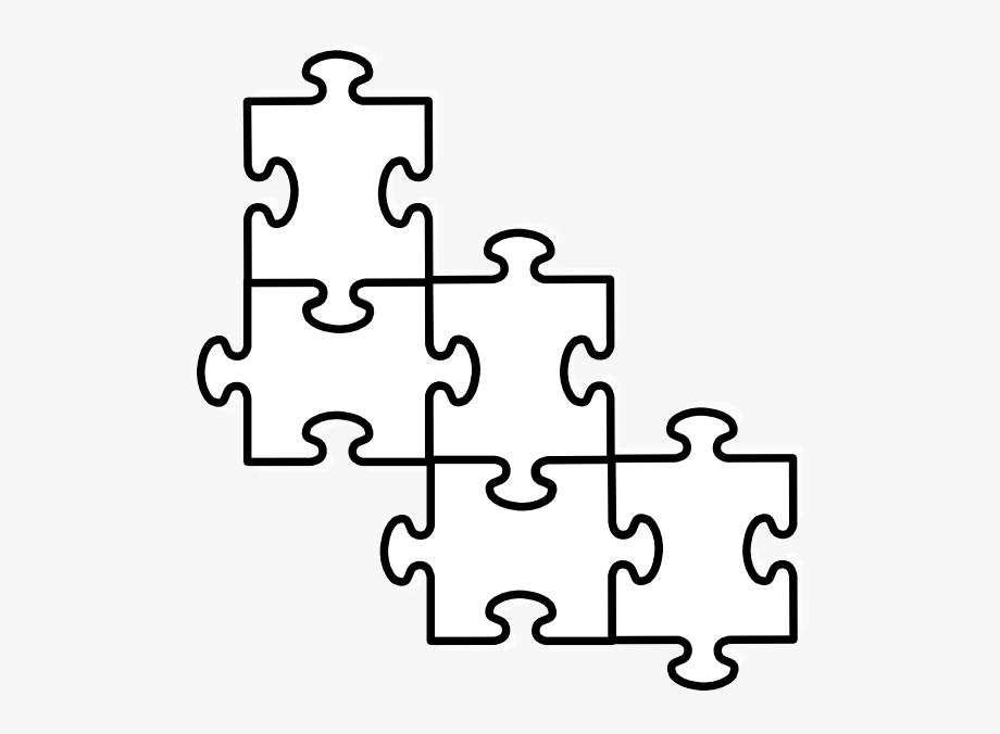 five piece puzzle template.