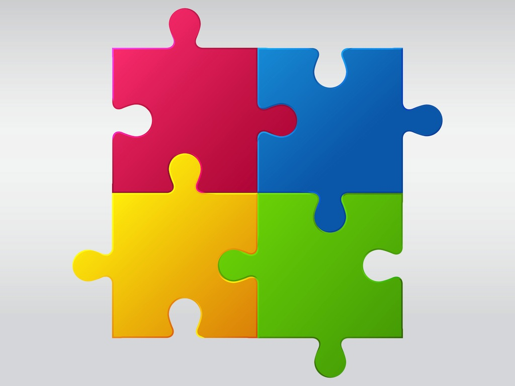 Jigsaw Puzzle Vector Art & Graphics.