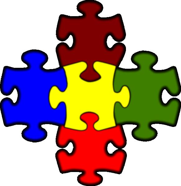 Clipart jigsaw 5 piece.