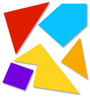 5 Piece Tangram Printable Worksheet.