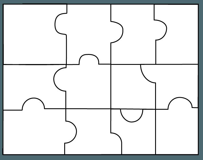 2 Piece Puzzle Template. 2 piece puzzle template clipart best.