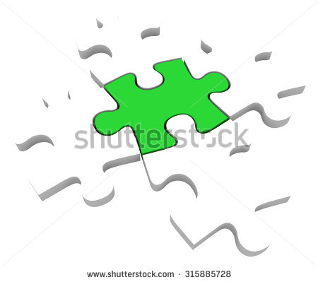 5 Piece Puzzle Stock Photos, Royalty.