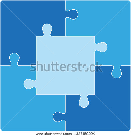 5 Piece Puzzle Stock Images, Royalty.