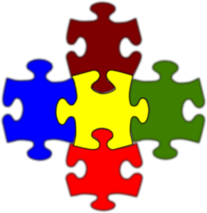clipart 5 puzzle pieces - Clipground