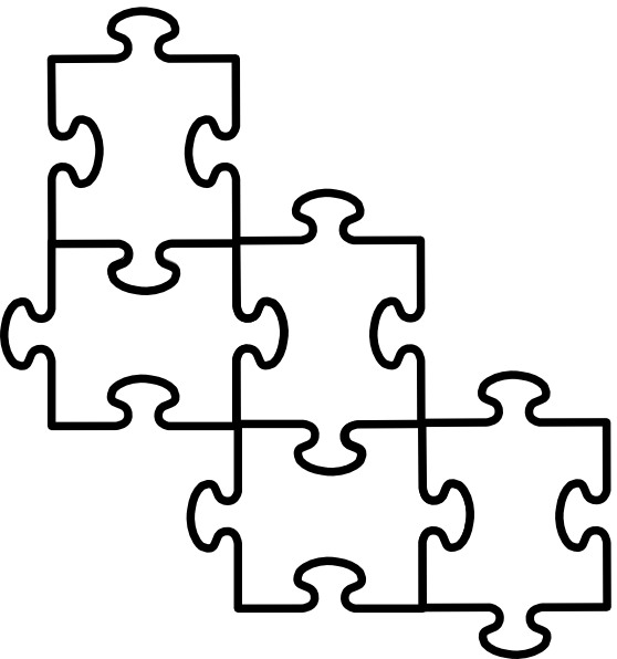 4 Jigsaw Puzzle Pieces.