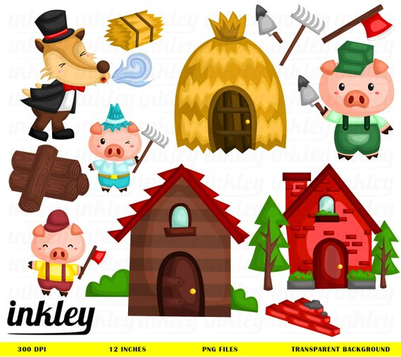 3 little pigs clipart 5 » Clipart Station.