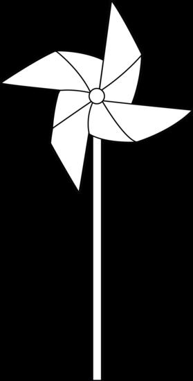 Pinwheel Line Art.