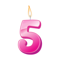 Birthday Candle Number 5 PNG Image Free Download searchpng.com.