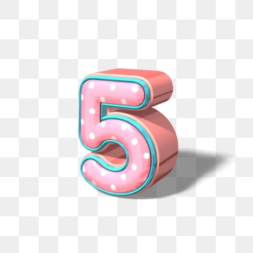 Number 5 PNG Images.