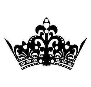 5 point crown clip art Little Red Princess Black.