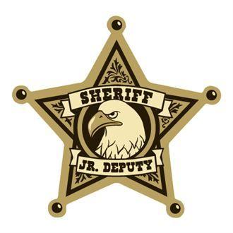 Junior Deputy 5 Point Sheriff Foil Sticker Badge, Stock in.