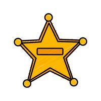 Sheriff Badge Free Vector Art.