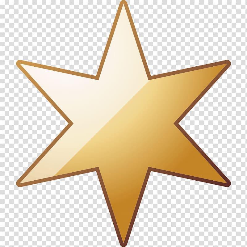 Star of David Sticker, star transparent background PNG.