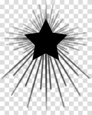 Christmas c, black star art transparent background PNG.