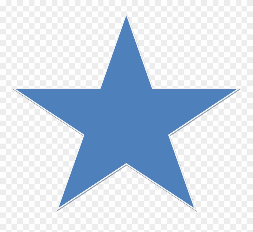 Blue 5 Point Star Clipart (#462304).