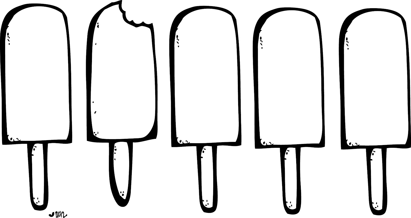 Popsicle clipart black and white 5 » Clipart Station.