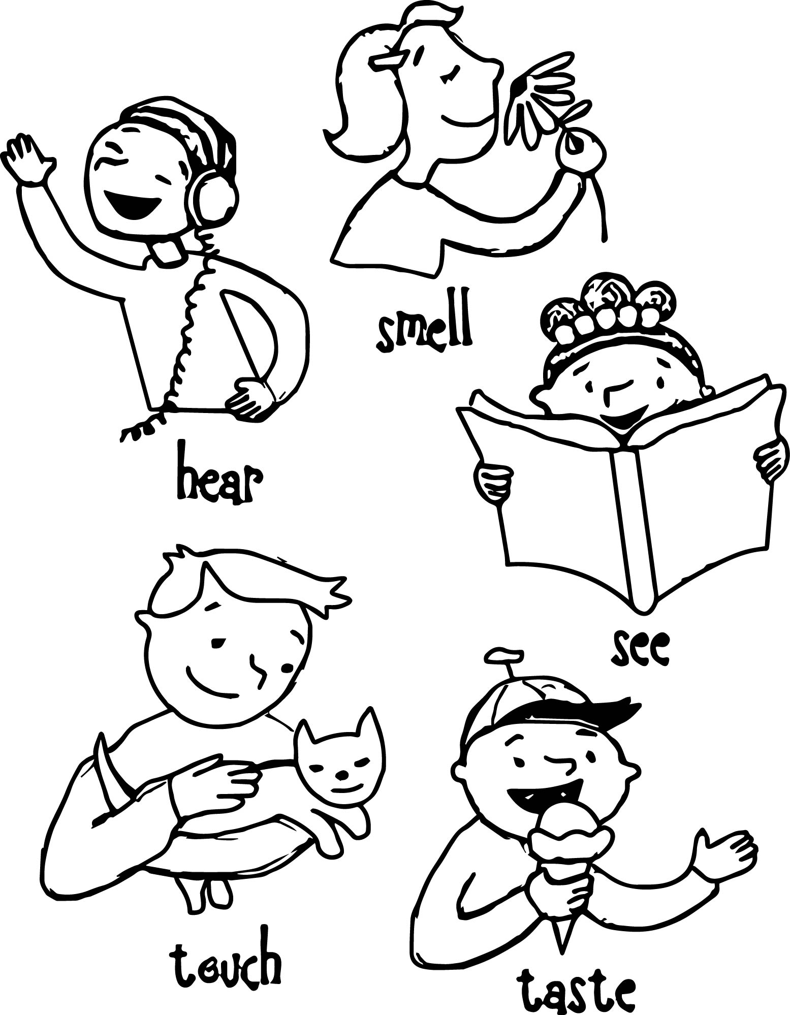 5 senses clipart black and white, Picture #210505 5 senses.