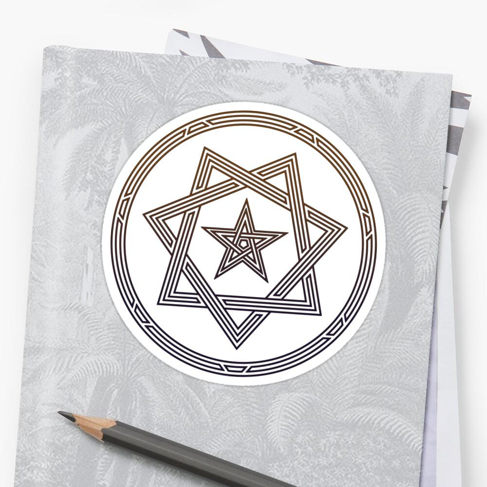 Pentagram / Heptagram 5/7 Sided Stars Sacred Geometry.