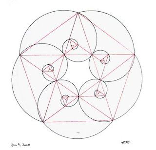 Phi spirals are the proportions of the 5 sided pentagon the.
