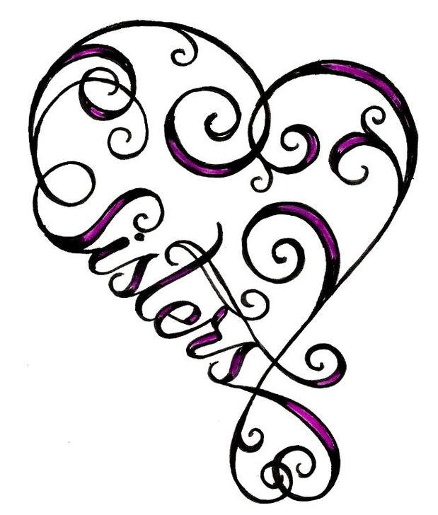 Free Sisters Heart Cliparts, Download Free Clip Art, Free.