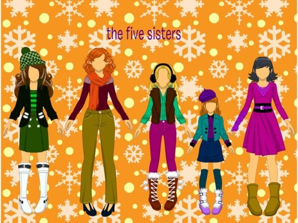 We r 5 sisters. 5 sisters and a brother. I am the middle of.