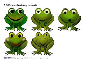 Five Little Speckled Frogs Nursery Rhyme Teaching Resources.