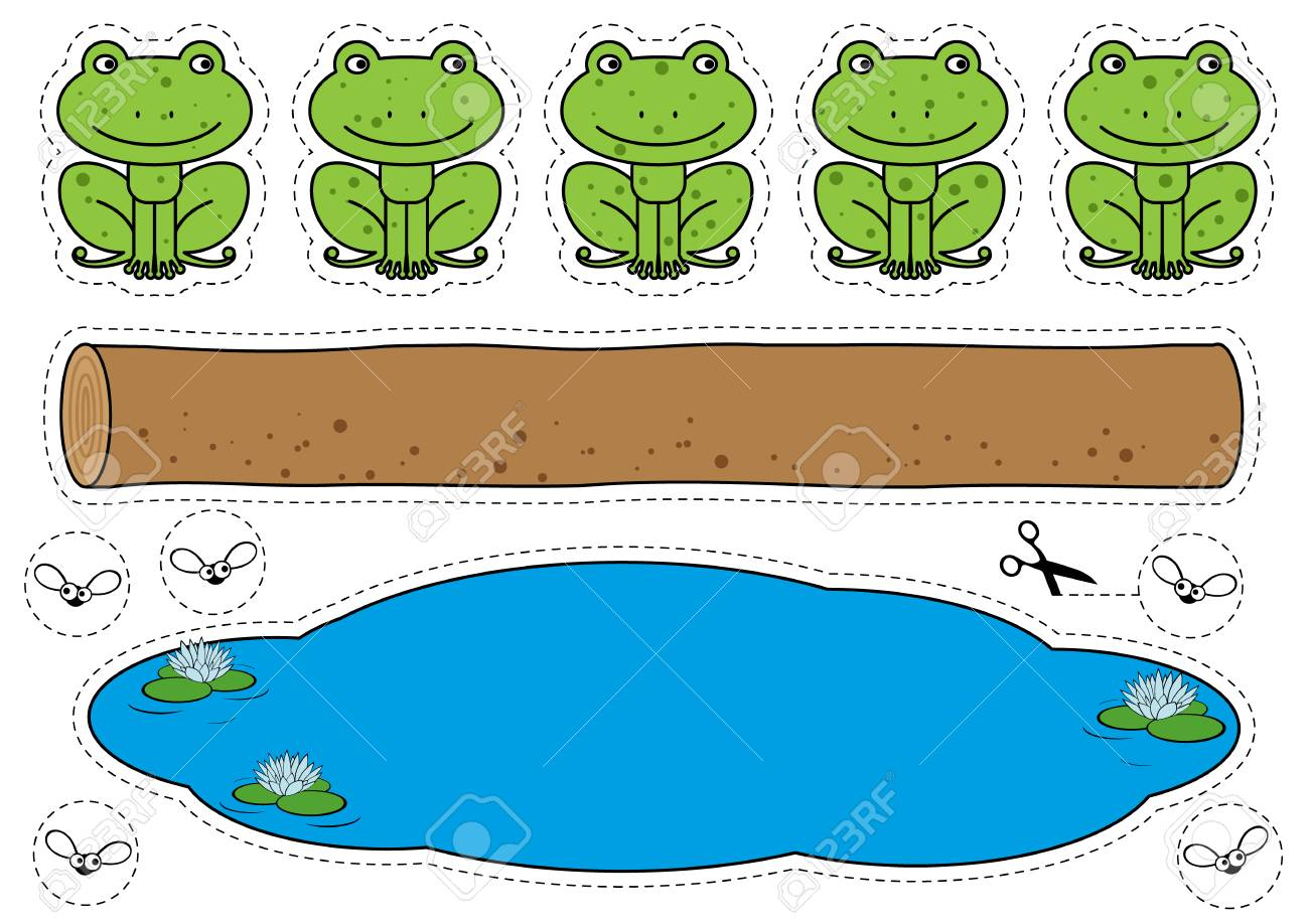 Five Little Speckled Frogs Game.