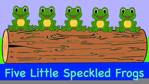Little Speckled Frogs Clipart.