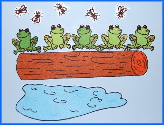 5 Little Speckled Frogs Felt / Flannel Board Set.