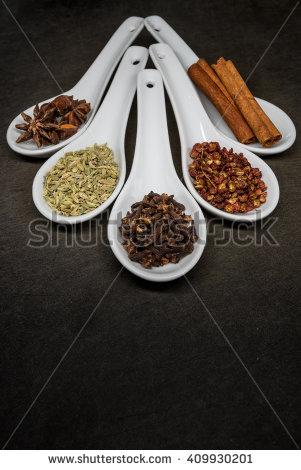 5 Spice Bowl Clipart.