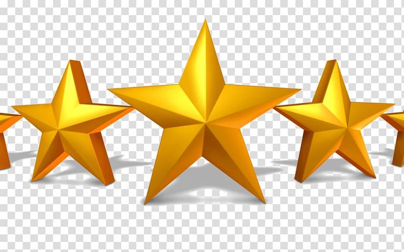 Amazon.com 5 star Customer Service, five stars transparent.