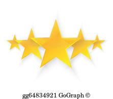 Five Stars Clip Art.