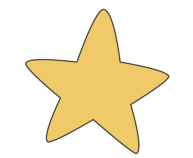 Star Cliparts Single.