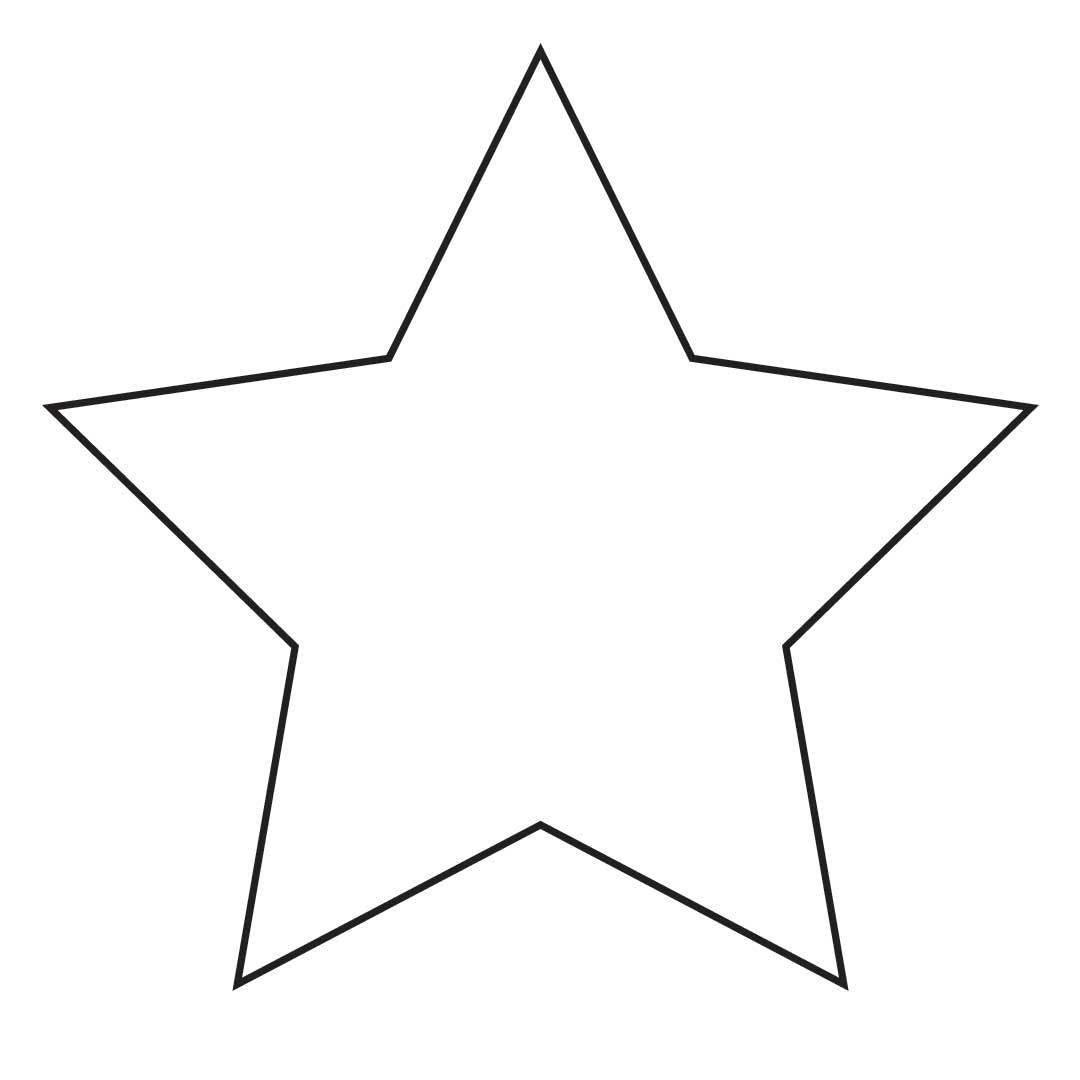 Blank Star Image.