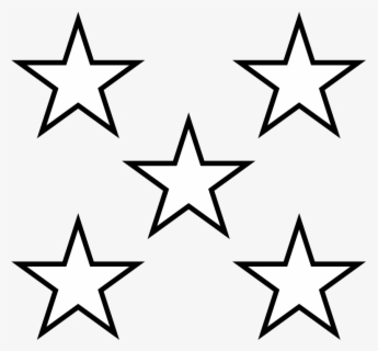 Free White Star Clip Art with No Background.