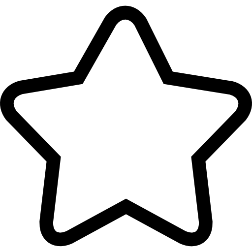 176 Star Outline free clipart.