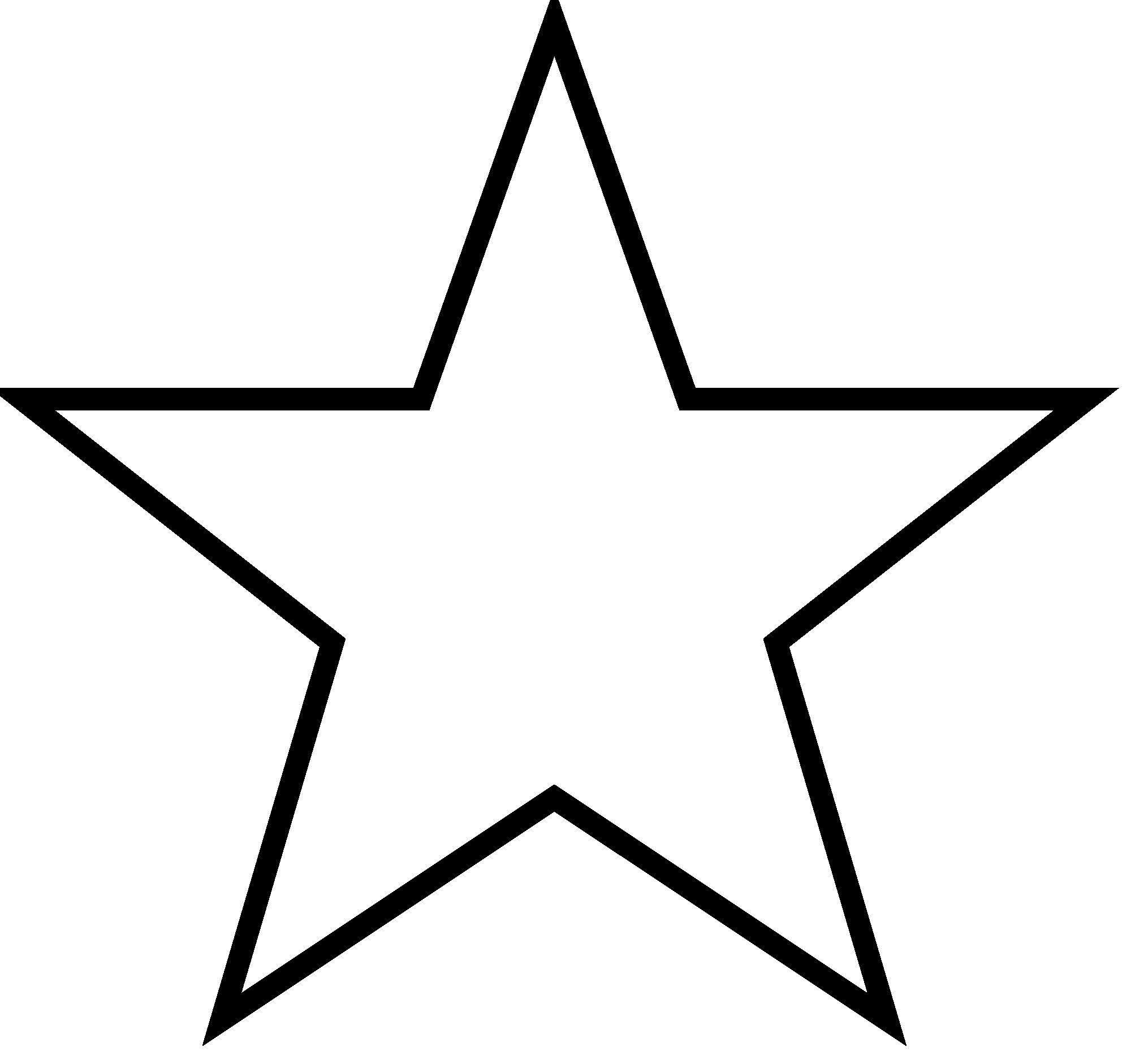 5 Point Star Outline.
