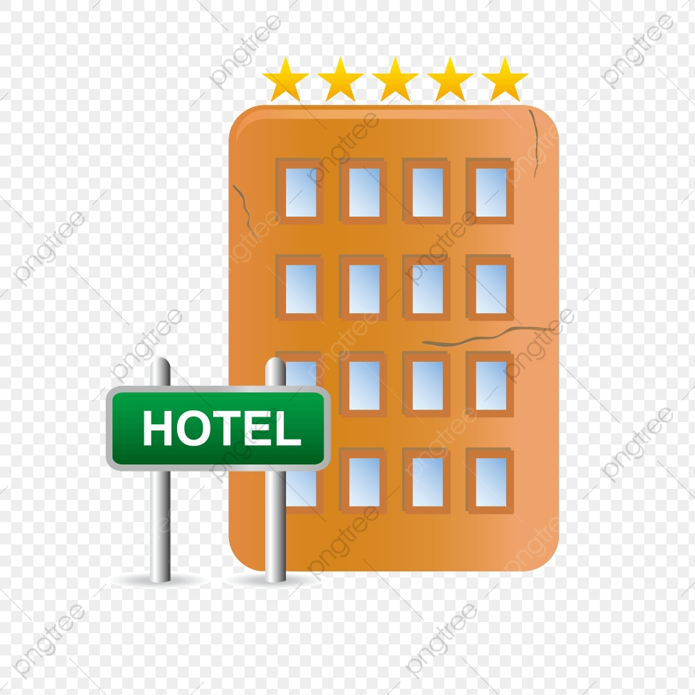 5 Star Hotel Complex Vector, Hotel Vector, Guesthouse, Vector Tower.