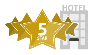 Five, 5 star hotel icon #39798.