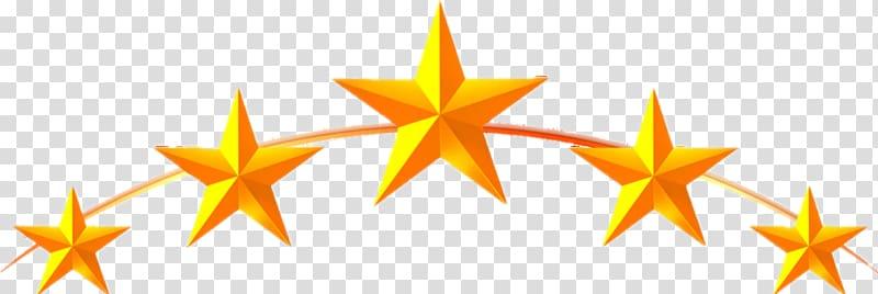 Five star illustration, Five.