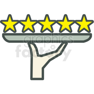 5 star rating vector icon . Royalty.