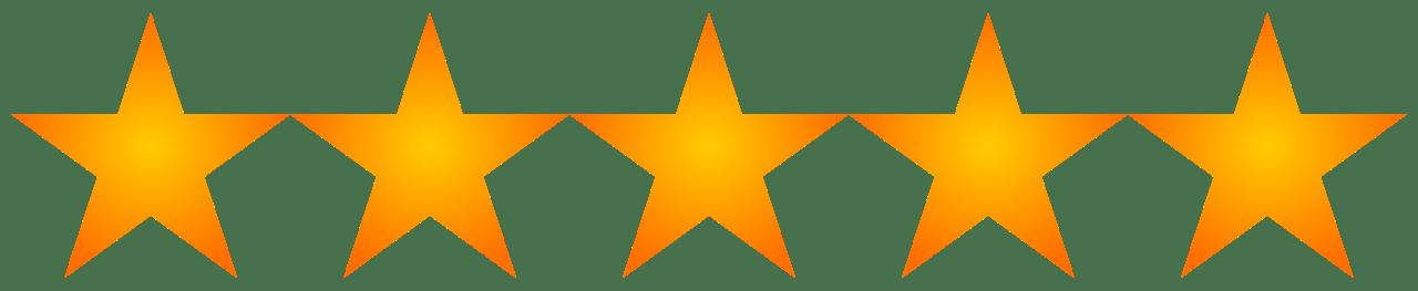Stars Voting 5 Stars transparent PNG.