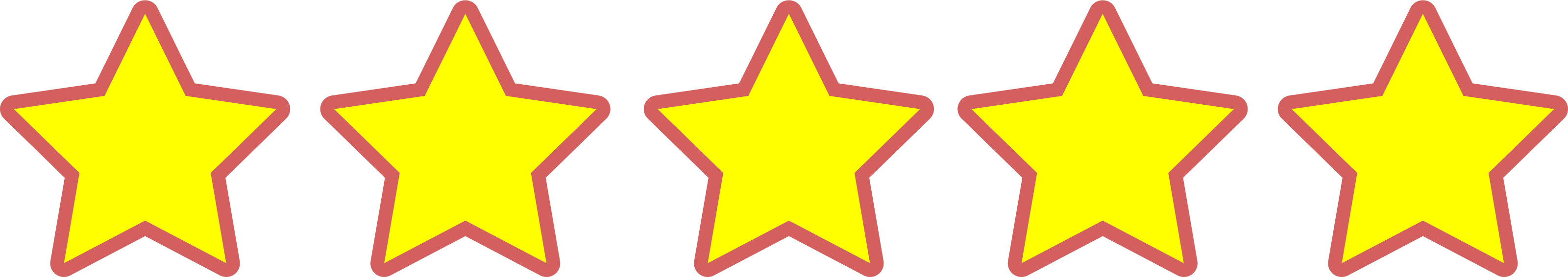 Yellow 5 star rating icon.