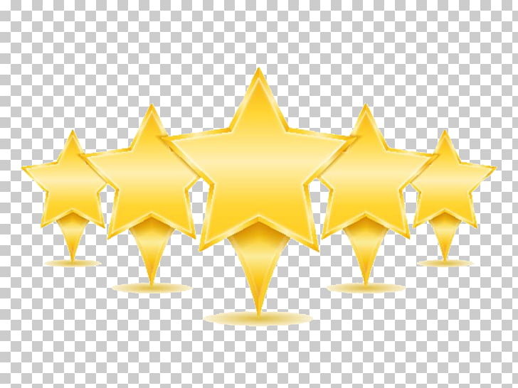 Hotel Icon, Hotel Five Star Rating, illustration of five.