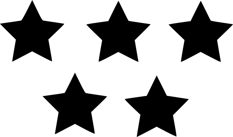 Five Star Rating Svg Png Icon Free Download (#530209.