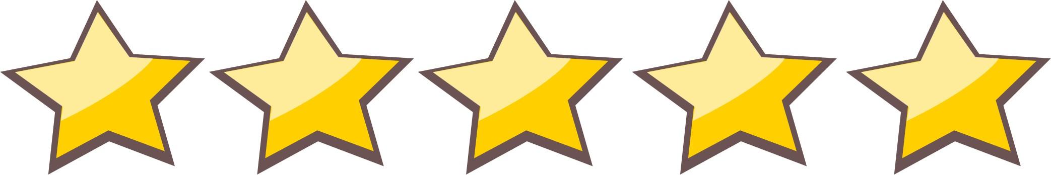 5 Stars Clipart.