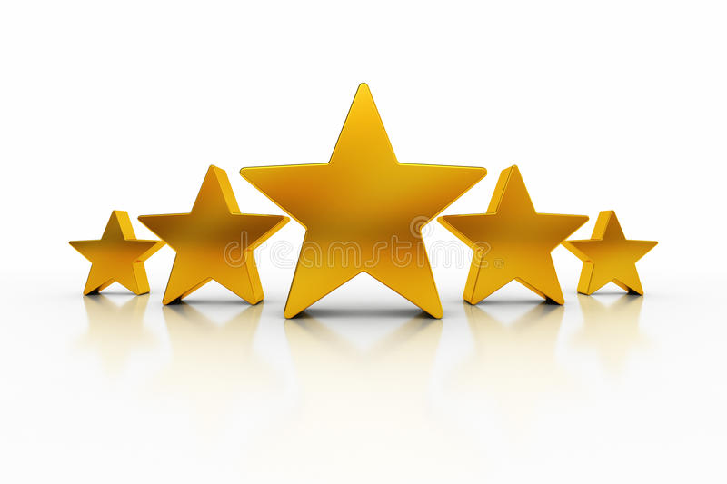Five Stars Stock Illustrations.