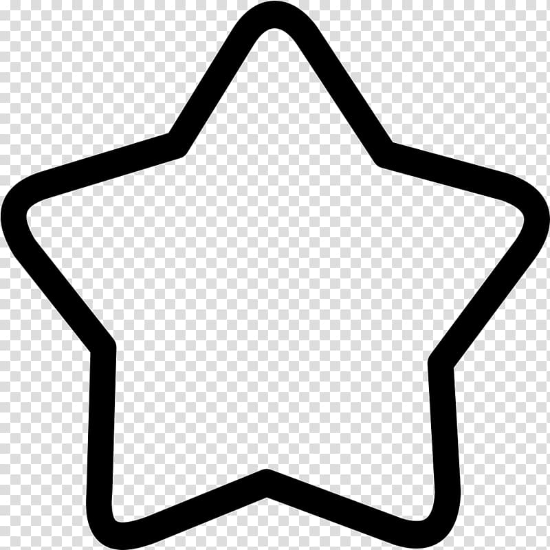 Black and white Symbol , 5 Star transparent background PNG.