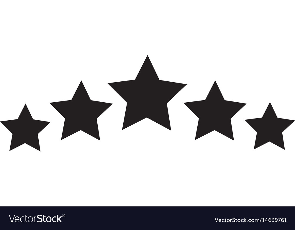 Five star icon on white background 5 star sign.