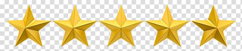 Five yellow stars illustration, , 5 Star transparent.